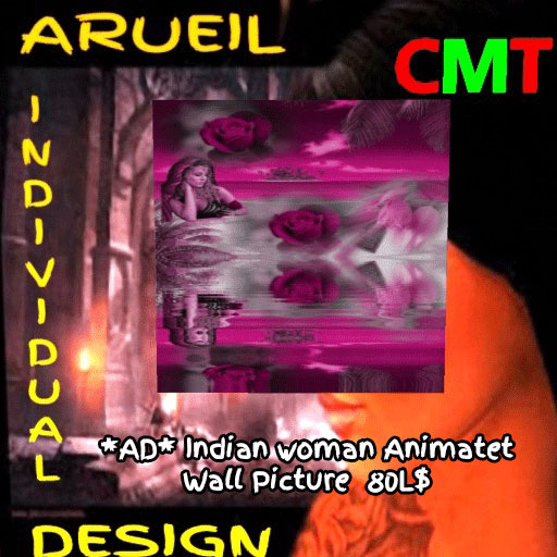 AD-Indian woman Animatet Wall Picture