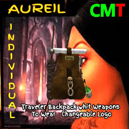 Traveler Backpack whit Weapons To Wear Changeable Logo