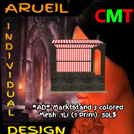AD-Marktstand 3 colored Mesh
